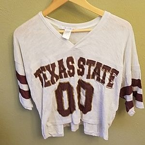 Texas State University Football women's crop top